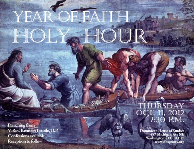 Year of Faith Holy Hour: Thursday, October 11th